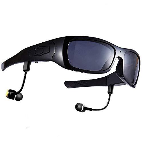 Sport, der die intelligente Kamera/Kamera-Brille HD HD1080P fährt, die Aufzeichnung Bluetooth-Kopfhörer fährt, der Lieder hört,Black+nomemory