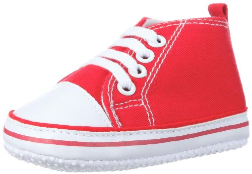Playshoes Baby Canvas-Turnschuhe, Rot (rot 8) 16