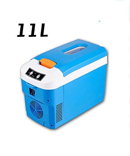 LIANJUN Camping 11L Elektrische Kühlbox Kühlung Auto/Zuhause Mini Kühlschrank Hitze/kühlen doppelten Gebrauch Haushalt/im Freien (Farbe : Blau) - Cool Thermische