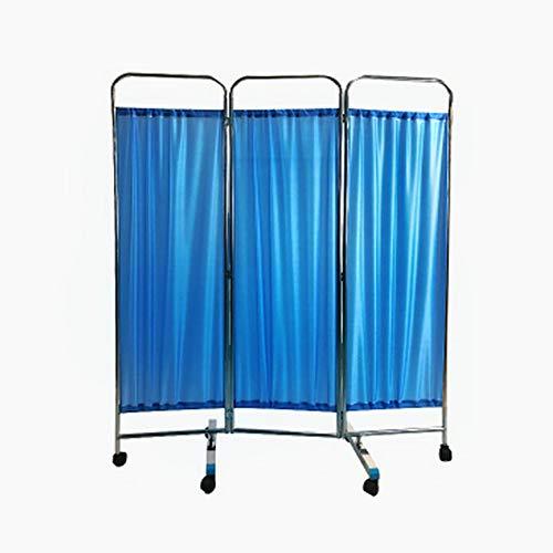 SUN RDPP Medizinischer Sichtschutzvorhang, Blau,threePanel