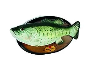 Out of the blue 61/4090 Singender Fisch mit Bewegung, Billy Bass, circa 28 cm für 4 Mignon AA Batterien
