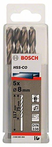 Bosch Professional Metallbohrer HSS-Cobalt (5 Stück, Ø 8 mm)