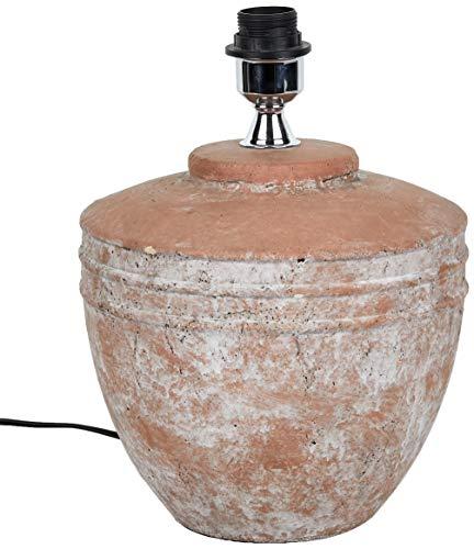 Better & Best Lampe mit 2 Streifen, aus Terrakotta, 25 x 25 x 34 cm