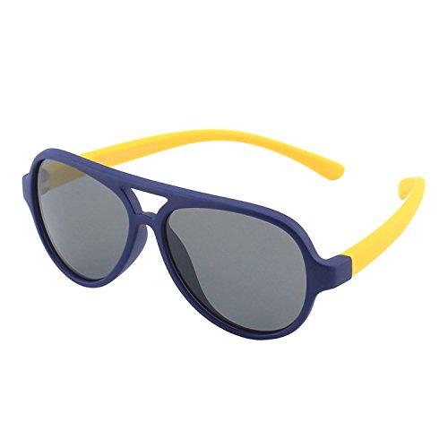 Cgid occhiali da sole per bambini gommati flessibili aviator lenti polarizzate per bimbi e bambini 3-6 anni,k93