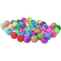 Toyvian 50 Unidades de Bolas de Lotería de Colores Surtidos PP Pelotas de Tenis de Mesa 40mm Bolas de Ping Pong Impresas con Número para Juego Decoración del Partido