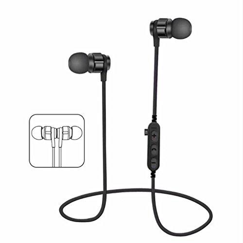 Auricular ,YUYOUG Auricular inalámbrico Bluetooth 4,2 auriculares estéreo audífonos Sport auriculares (Black)