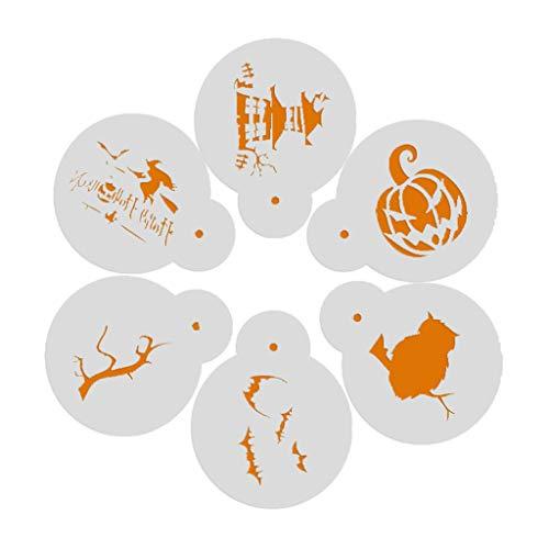 one Halloween Weihnachten Backen Schablonen Spray Fondant Form Dekorieren DIY 6pcs/set, plastik, 03#, app.13.5cmx11cm/5.31inx4.33in ()