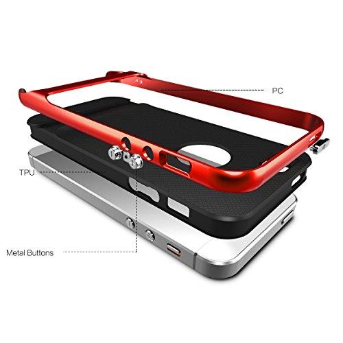 Coque ROCK Royce Ultra Résistante Antichoc Housse pour iPhone 5 5S - Or Rouge