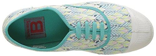 Bensimon - Tennis Lacet Plumes, Basse Donna Turchese (Turquoise)