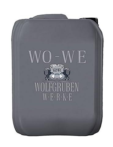 10L PRÉPARATION pour PEINTURE de SOL Type : Wolfgruben Werke (WO-WE) W800 ACID ETCH SOLUTION donne une préparation optimale pour la peinture W700 de plancher et d'autres 1K et 2K polyuréthane et peinture de sol époxy béton plancher de peinture / revêtement plus facile et plus efficace que le sablage ou grenaillage / fournit une excellente adhérence par micro gravure échelle de ciment dans le garage cave et usine - 10 litres