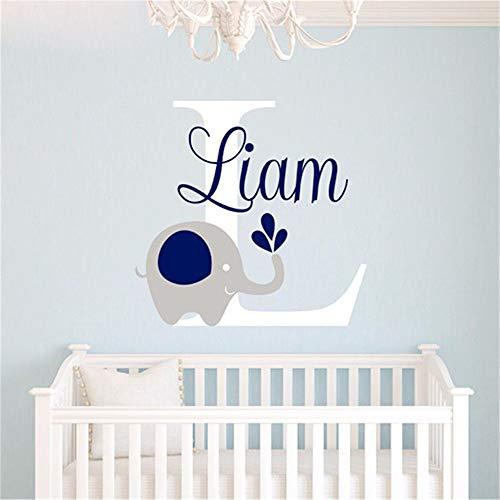 (wandaufkleber 3d Custome Baby Name Aufkleber Elefant Baby Zimmer Kinderzimmer Home Decor)