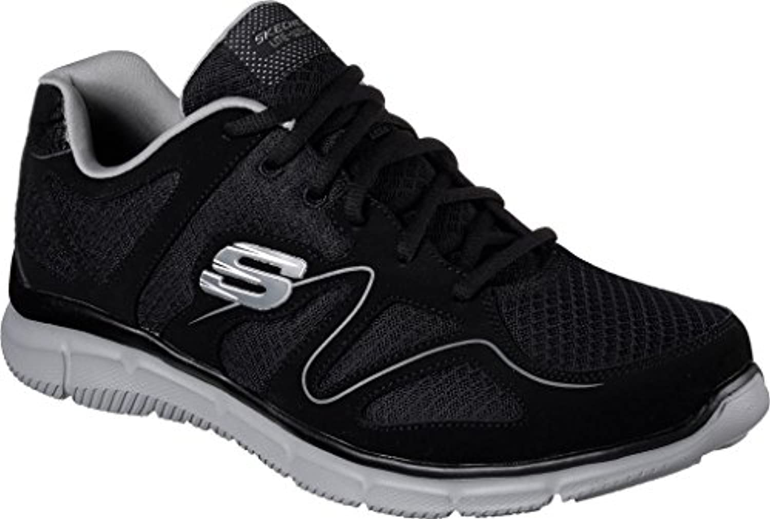 Skechers Verse Flash Point Men'S Fitness Trainers Memory Foam BKGY