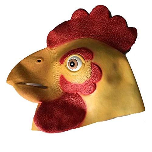chsenen Kostüm Ball Maske Tierkopf Set Hong Kong Großen Hahn Maske Kinder Führen Latex Huhn Requisiten ()