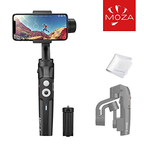 MOZA Mini S Estabilizador para iPhone/3 Axis Estabilizador Smartphone Gimbal Plegable Extensible