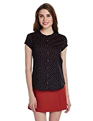 Arrow Woman Button Down Shirt (ASSW6013_Black_X-Small_8907378468963)