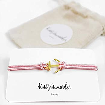 Ankerarmband rosa – gold