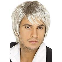 Smiffys Peluca de chico de banda de pop, rubia clara y marrón, estilo corto