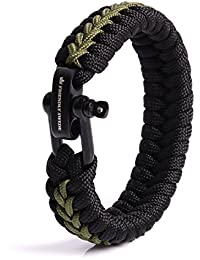 Survival Armband Paracord schwarz Clipverschluß 2,3 cm breit 25 cm lang NEU Outd