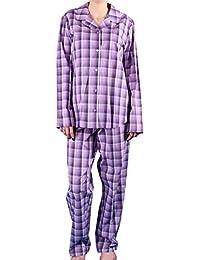 Seidensticker Damen langer Pyjama Schlafanzug Lang - 145878