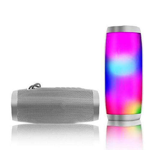 IGHER Neue drahtlose Bluetooth-Lautsprecher-LED-Melodie-Laterne Innovatives tragbares Mini-Geschenk im Freienweiß