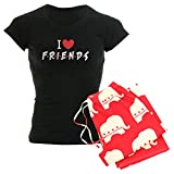 CafePress'I heart TV-Serie Friends Women's Women'Pyjama Schlafanzug dunkel