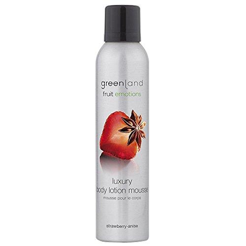 Greenland Körpermousse Anis Erdbeer Duft | Pflegende Ergänzung zu Duschschaum | Wohlduftender Body Lotion Schaum | Tolle vegane Sahne für den Körper