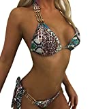 Damen Bikini-Sets,Rifuli® Plus Size Print Tankini Badeanzug Badeanzug Beachwear Gepolsterte Badebekleidung Bikinis Sets Bikinihosen Badeanzüge Zweiteilige Strandkleidung Beachwear