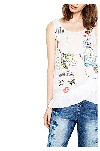DESIGUAL - Femme tank sans manches t-shirt mara Blanc