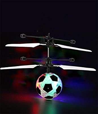 IBUYTOP Flying Ball, Kids Flying Toy, Mini RC Infrared Helicopter Ball Built-in Shinning LED Lighting for Kids, Teenagers Colorful Flyings for Kids Toys(football) by ST Technology