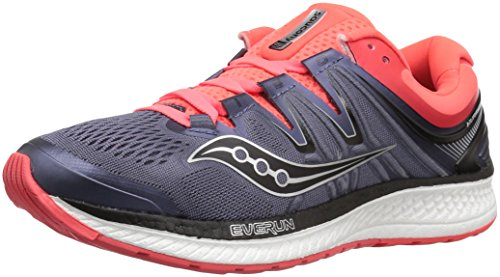 Saucony Women Hurricane ISO 4 Stability Running Shoe Running Shoes Grey - Orange 8