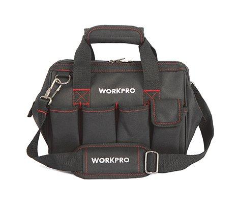 WORKPRO W081020AU - Bolsa de herramientas compacto con boca ancha arri