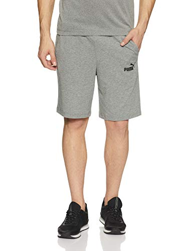 Puma Herren ESS Jersey Shorts Hose, Medium Gray Heather, L