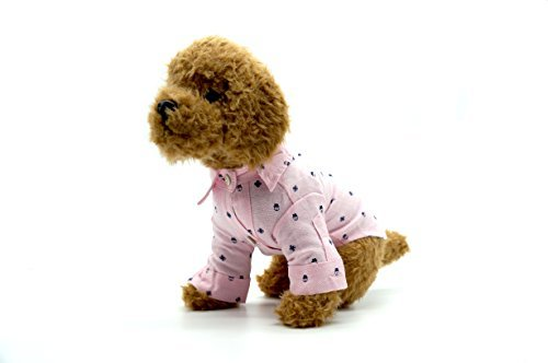 Print Baby Pink Hund Shirt, S, Rose ()