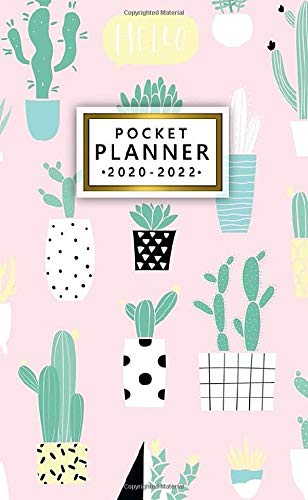 pocket planner 2020-2022: cute three year organizer & calendar with monthly spread view | 36 month agenda & diary with inspirational quotes, phone ... log & notes | cartoon potted house plants