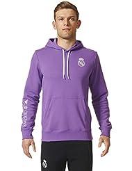 adidas Real Madrid Co Hood - Sudadera para hombre, color morado / blanco, talla S