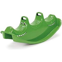 Dantoy bascule pour 3 personnes en plastique durable avec 3 sièges fabriqué au Danemark, crocodile vert