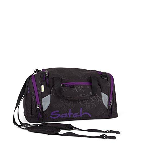 Satch Sporttasche Purple Hibiscus 9C6 schwarz lila