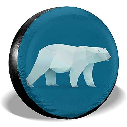 WCHAO Copriruota Orso Polare Potabile in Poliestere Ruota di scorta Universale Copriruota per Je-EP RV SUV Rimorchio Autocarro Cam