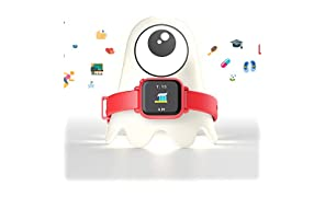 Octopus by JOY Kids Smartwatch teaches good habits and time (Red bundle)