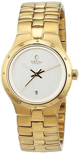 Obaku V111LGGSG - Reloj de Pulsera Mujer, Acero Inoxidable, Color Dorado