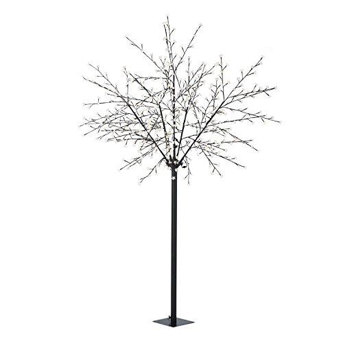 Blumfeldt Hanami WW 250 albero luminoso decorativo lampada fiori di ciliegio (600 LED, forma variabile a piacere grazie ai rami pieghevoli, altezza 250 cm) - bianco caldo