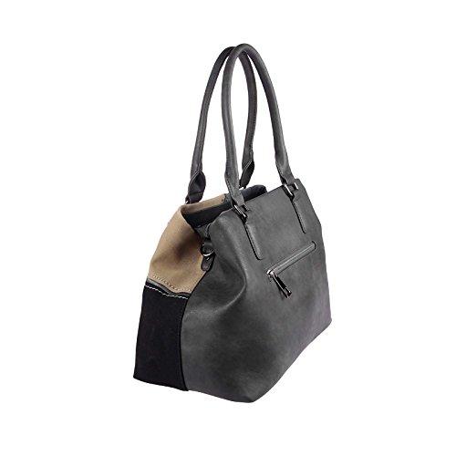 OBC Only-Beautiful-Couture, Borsa a spalla donna nero nero ca.: 50x28x17 cm (BxHxT) Grau