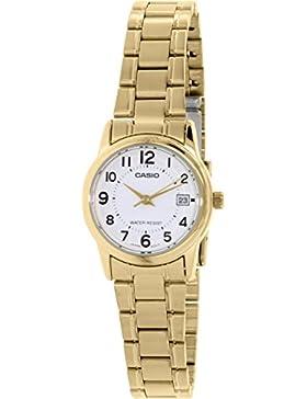 CASIO Damen-Armbanduhr Analog Quarz Edelstahl LTP-V002G-7