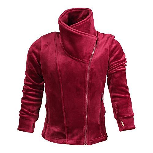 Bench BKGE002018 FLEECE Jacket warmer Kuschel-Fleece Pulli mit hohem Kragen Rot (Cabernet), EU 116