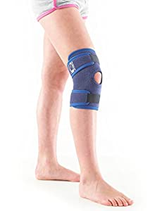 NEO G Kids Open Knee Support - Medical Grade Quality HELPS with symptoms of juvenile arthritis, knee strains, sprains, pain, instability, recovery & rehabilitation - ONE SIZE - Unisex Brace