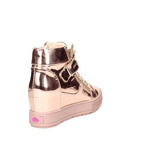 Fornarina sneakers con zeppa interna oro PIFMJ9606WPA5100 meti-copper mirror nuova collezione autunno inverno 2016 2017 Oro