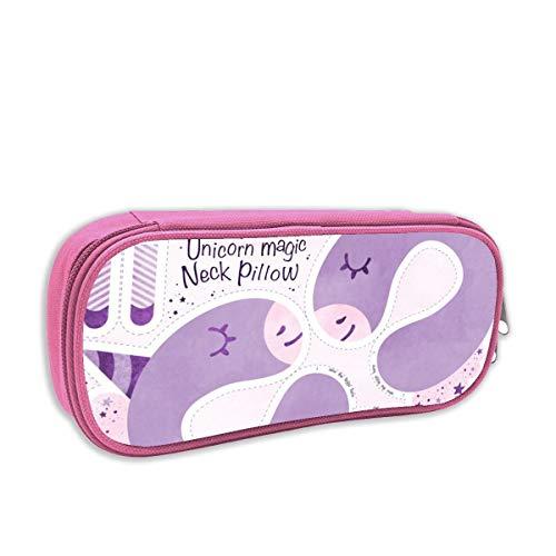 astuccio per bambini portatutto,Unicorn Magic Neck Pillow Purple_2846, rosa