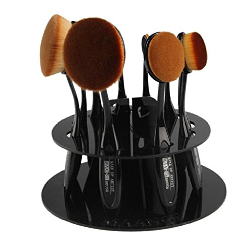 Covermason 10 Loch Oval Make-up Pinsel Halter Trockenrack Veranstalter Kosmetikum Regal Werkzeug