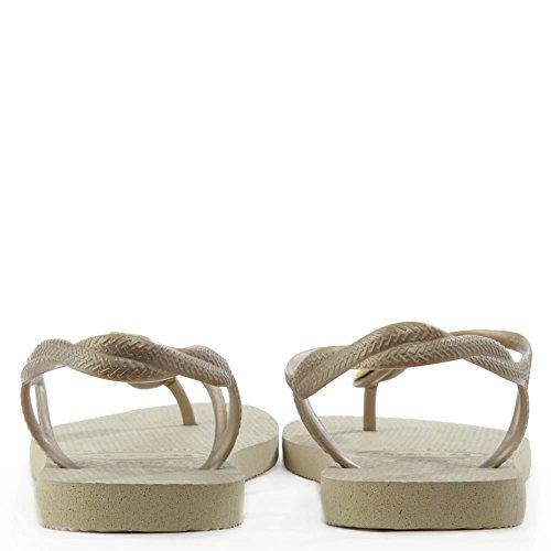 Havaianas Luna Special, Sandales Plateforme femme Beige - Beige (Sand Grey 0154)