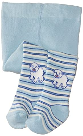 Playshoes Baby - Jungen Strumpfhose 499051 Playshoes Thermo Strumpfhose Eisbär, Gr. 50/56, Blau